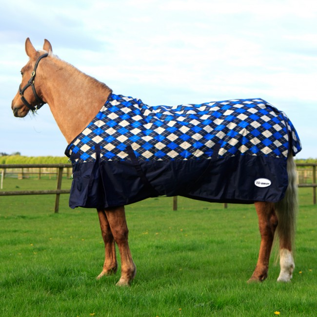 R077A 200g Checked Turnout Rug