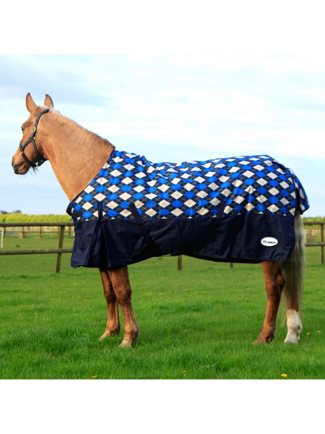 R077A 200g Checked Turnout Rug 7'0 Only
