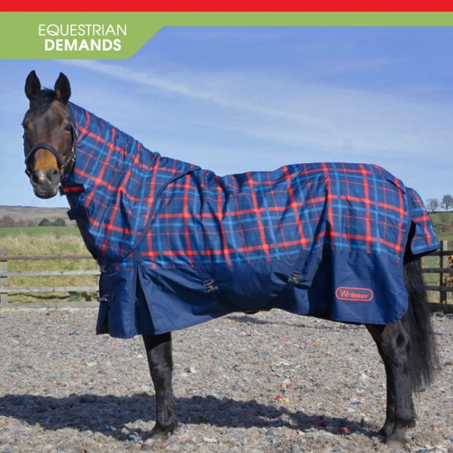 R059D Kirk 250g Checked Turnout Rug with hood