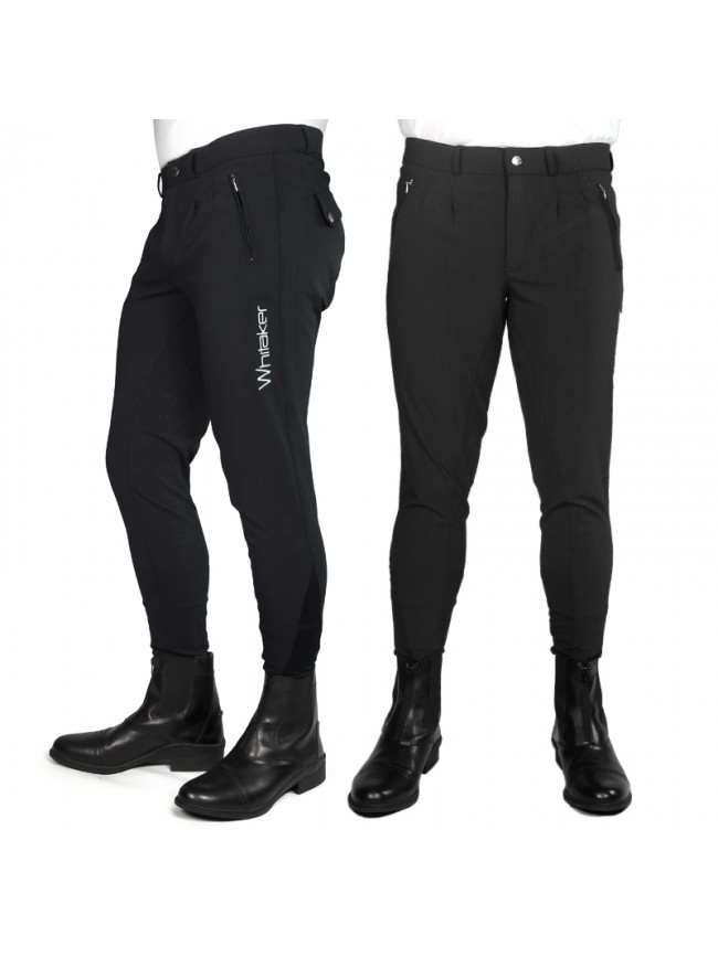 B142M Miami Mens Breeches with Full Silicone Seat