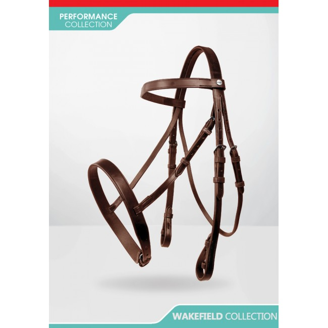 BR037 Wakefield Cavesson Bridle inc Plain leather Reins