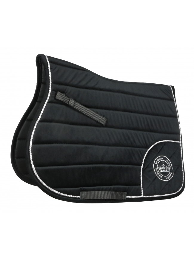 SC059 - Cottam Velveteen Saddle Pad in Black Full Size