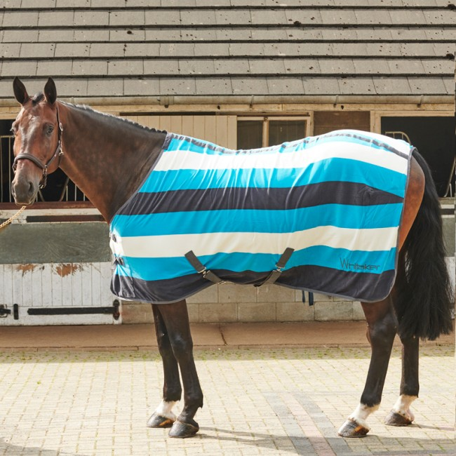 Whitaker Classic Blue Stripe Fleece Rug