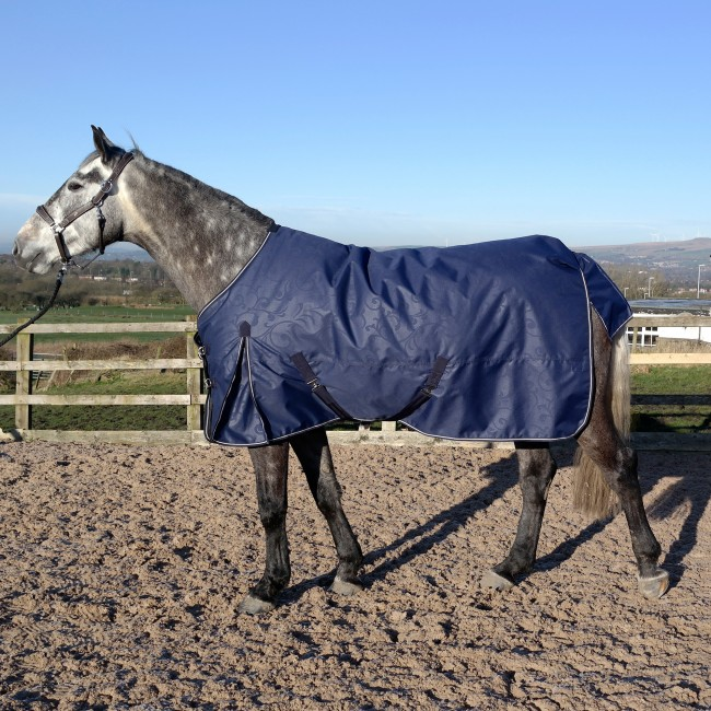 R222 Firgrove Embossed 200g Turnout Rug - Navy or Black