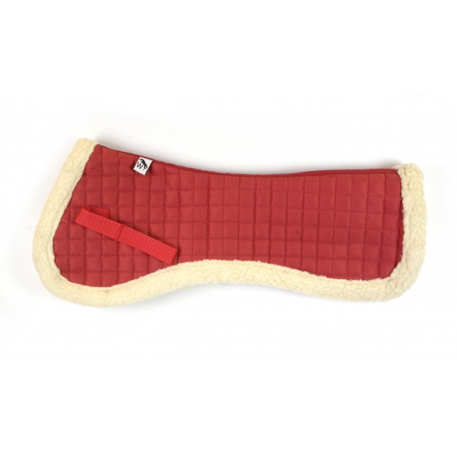 SCW02 Faux Sheepskin Half Pad - RED FULL