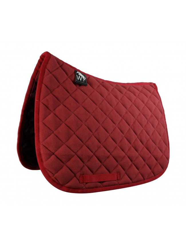 SW05F0502 - Ted Fleece Saddle Pad in Red Full Size