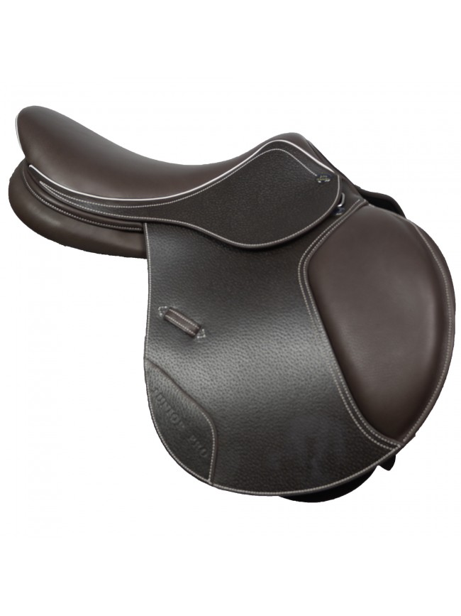 "JWS064 - Junior Pro Jump Saddle 16"" Havana"
