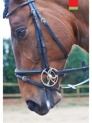 BR025- Black Square Crystal Bridle
