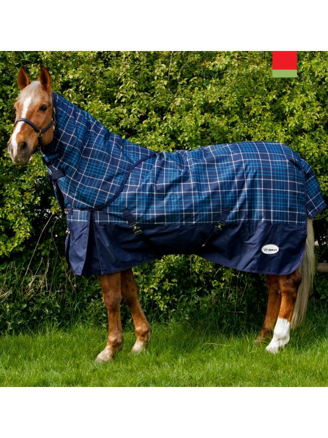 R059A Chiserley 200g Checked Turnout Rug with hood