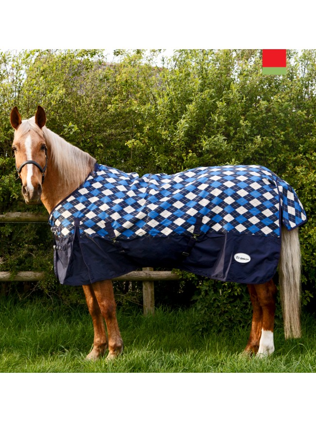 R077A Menston 200g Checked Turnout Rug