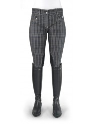Ivy Navy Checked Breeches - Model C03