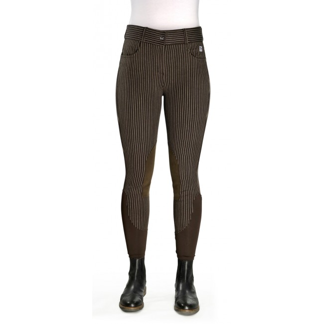 Ivy Brown Striped Breeches - Model C11