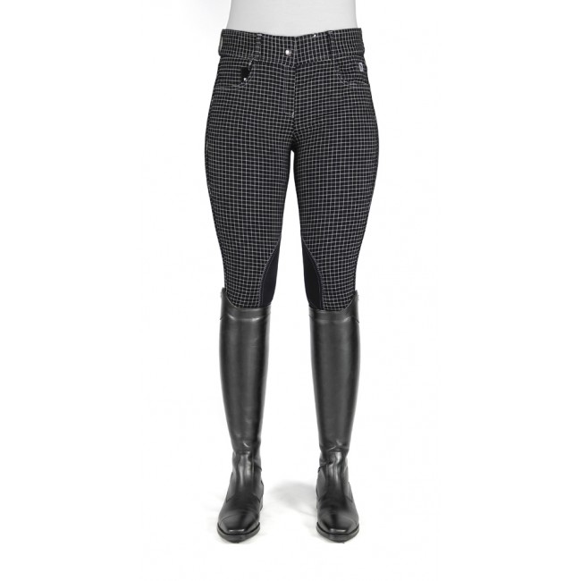 Ivy Black Checked Breeches - Model C41