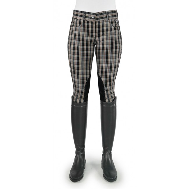 Ivy Black/Beige Checked Breeches - Model C53