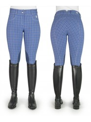 Ivy Royal Blue Checked Breeches - Model C65