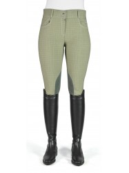 Ivy Green Checked Breeches - Model C74