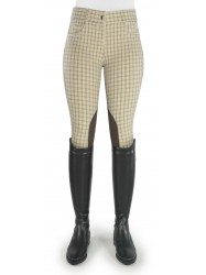 Ivy Beige Checked Breeches - Model C80
