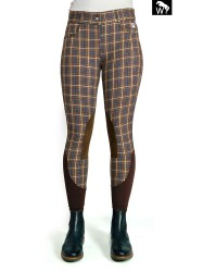 ONLINE EXCLUSIVE -BW20 Emma Chocolate Check Breeches