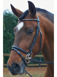 BR026- Clear Square Crystal Bridle