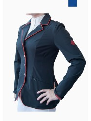 Lightweight Show Jacket with Full Collar Piping