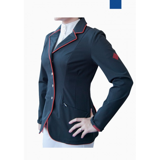 SJ026 - Lightweight Ladies Show Jacket with Full Collar Piping
